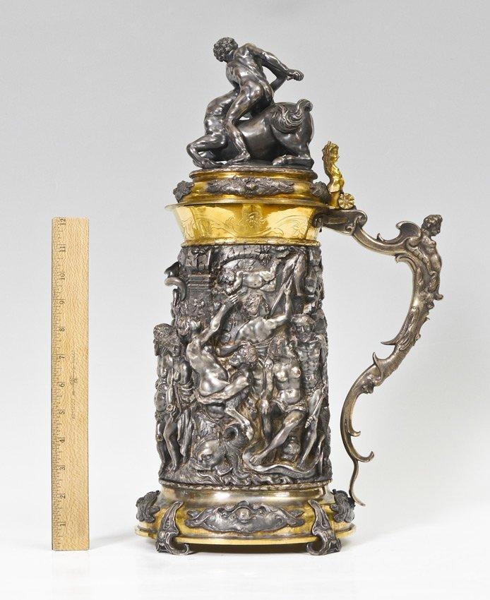 MONUMENTAL ELKINGTON VICTORIAN SILVERPLATE TANKARD - 5