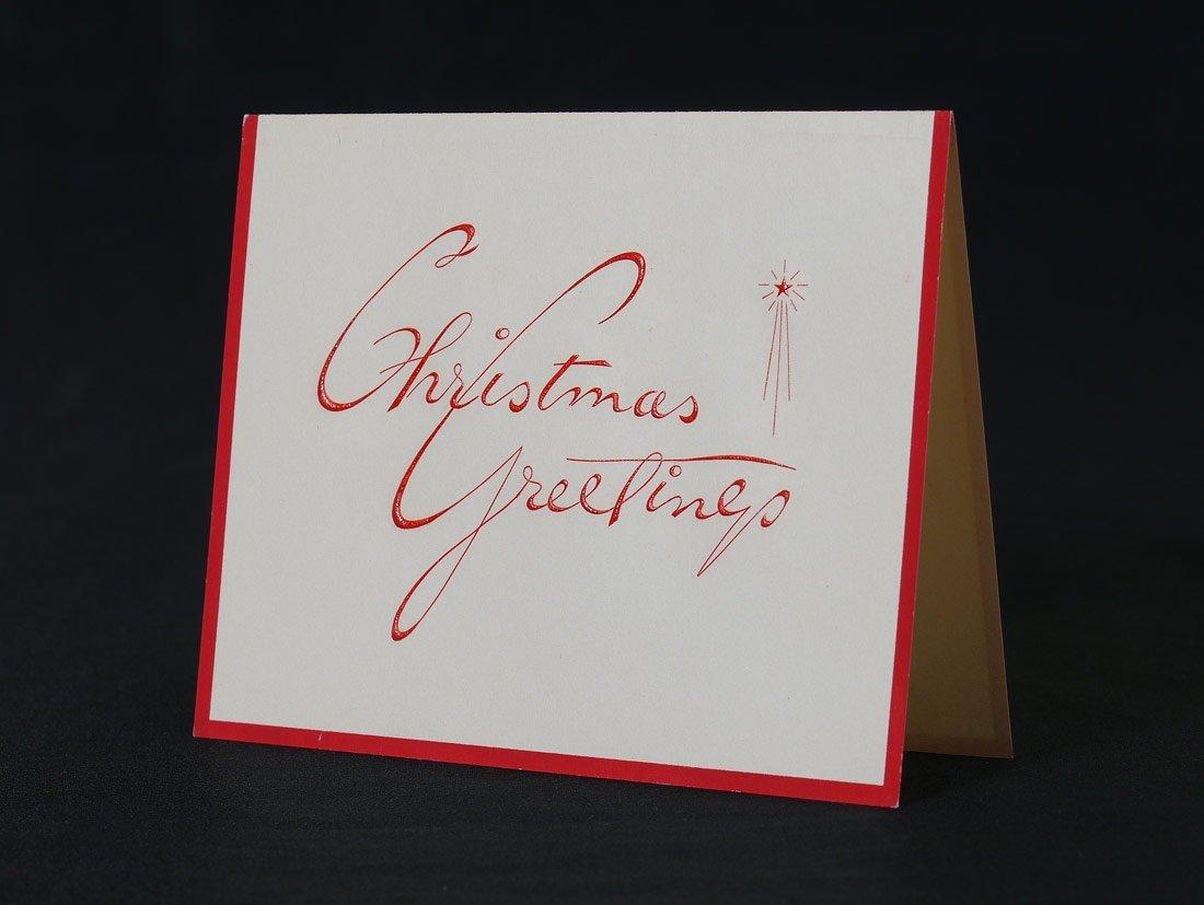 1956 SENATOR JOHN F. KENNEDY CHRISTMAS CARD