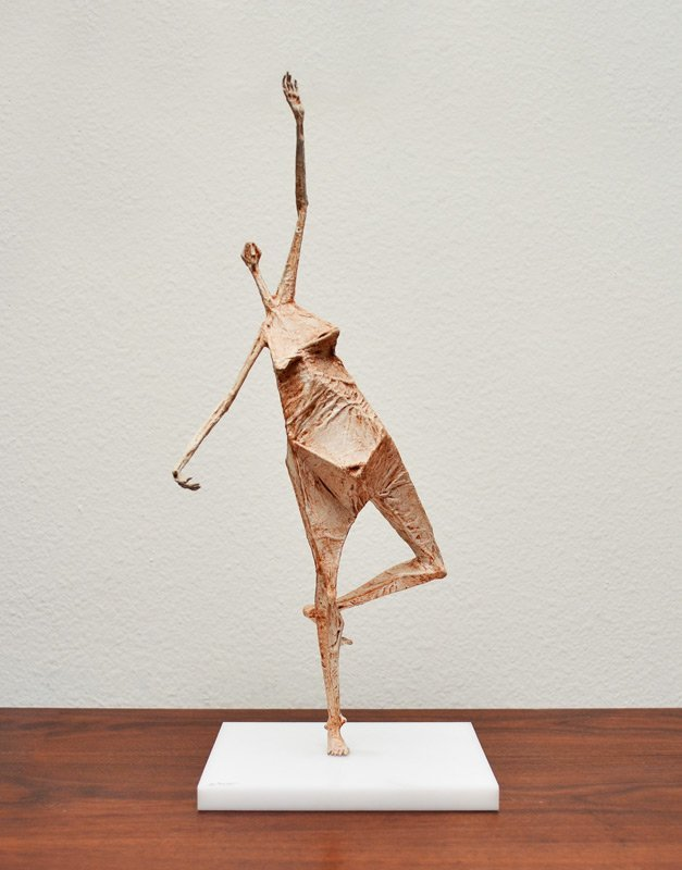 GARY SCOTT FEMALE NUDE PAPER MACHE SCULPTURE