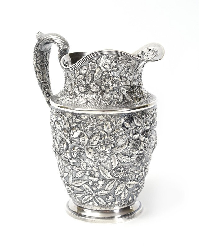 BALTIMORE STERLING REPOUSSE WATER PITCHER