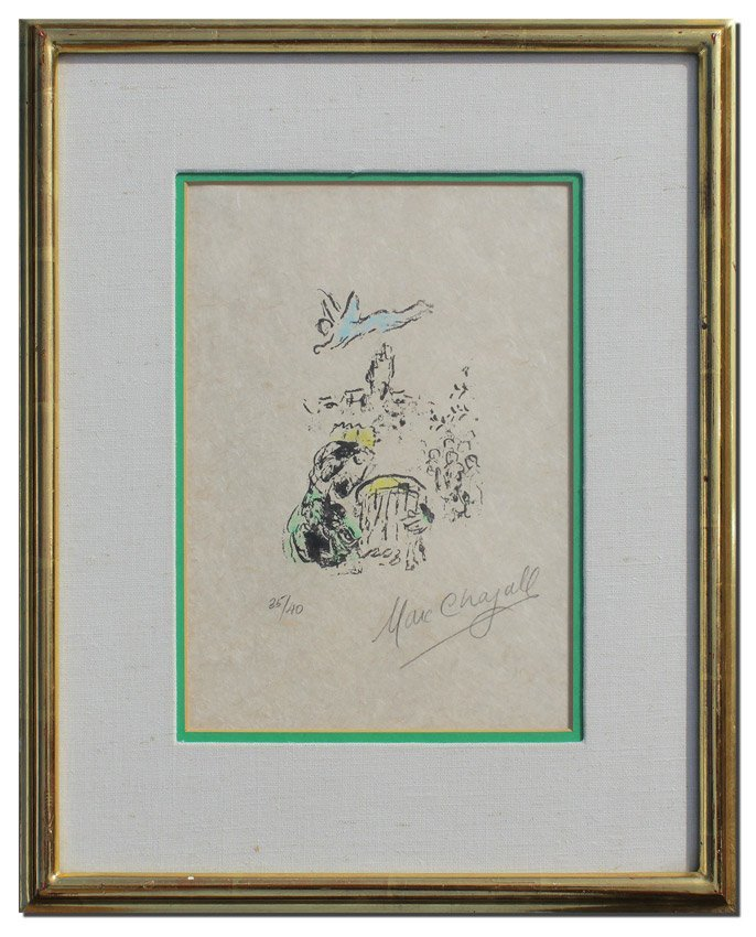 MARC CHAGALL SIGNED LITHOGRAPH KING DAVID - 2