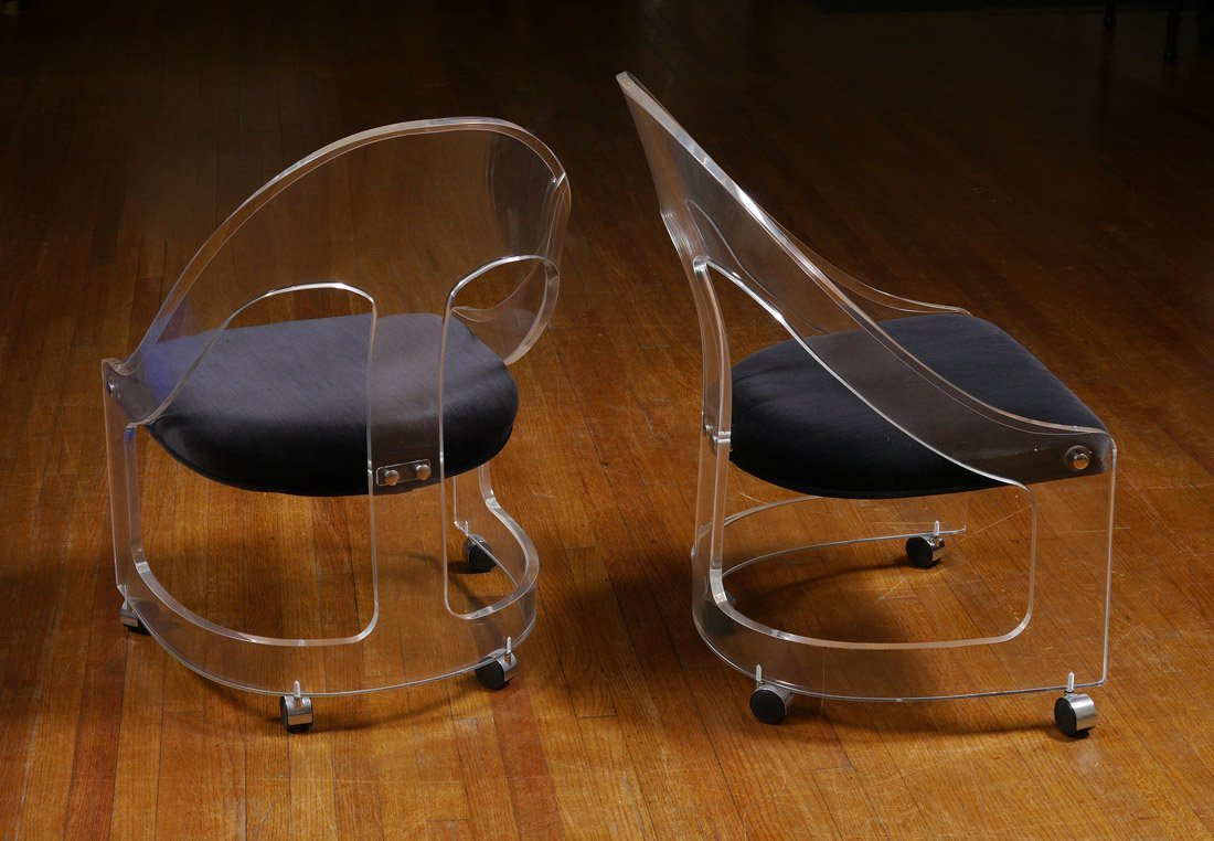LUCITE CHAIRS HILL MFG. PAIR - 2