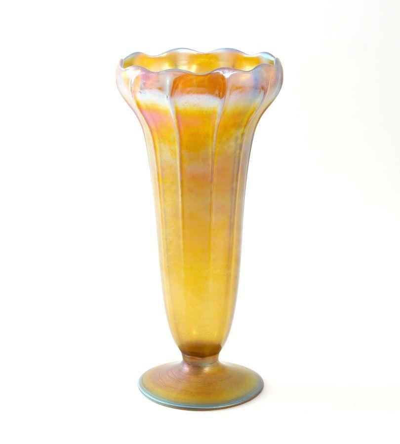 TIFFANY FAVRILE ART GLASS VASE