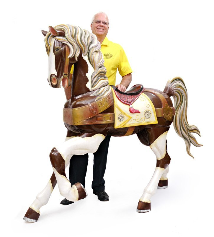 CARVED & PAINTED LIFE SIZE CAROUSEL HORSE