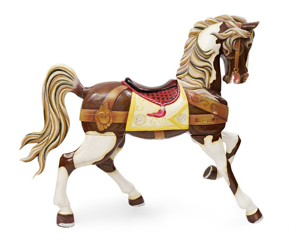 CARVED & PAINTED LIFE SIZE CAROUSEL HORSE - 4