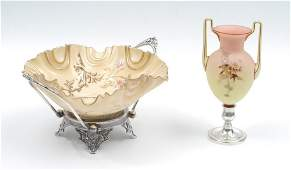 MT WASHINGTON PEACH BLOW VICTORIAN ART GLASS