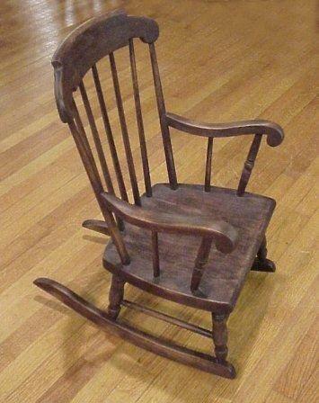 1244 Childs S Bent Amp Bros Rocker Chair