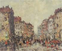 JEAN REMY PARISIAN STREET SCENE PAINTING