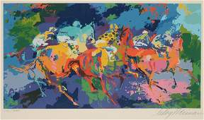 ORIGINAL LEROY NEIMAN SERIGRAPH THE RACE 1972