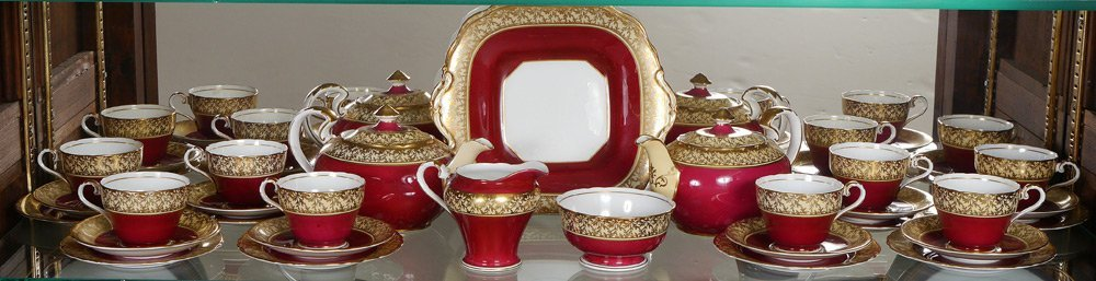 29 PC ANSLET FINE CHINA DESSERT SET