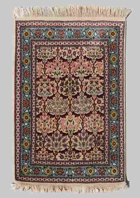 25-40 YR OLD PERSIAN HAND KNOTTED WOOL RUG 3'x4'