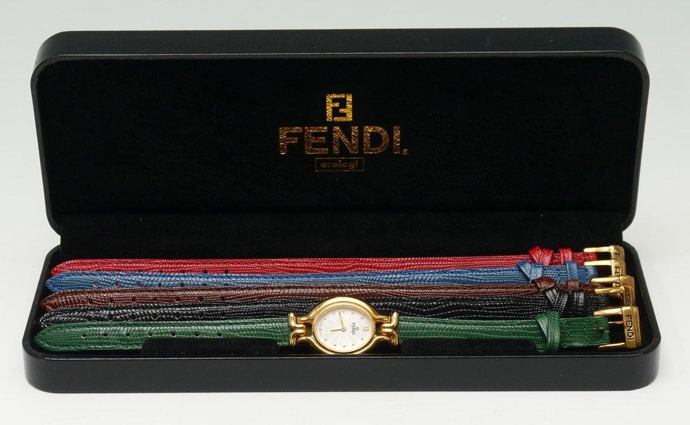 FENDI WRISTWATCH W/ MULTI COLORED LEATHER BANDS