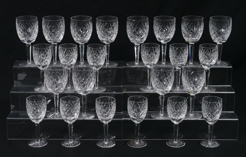 24 PIECE WATERFORD AVOCA CRYSTAL STEMWARE