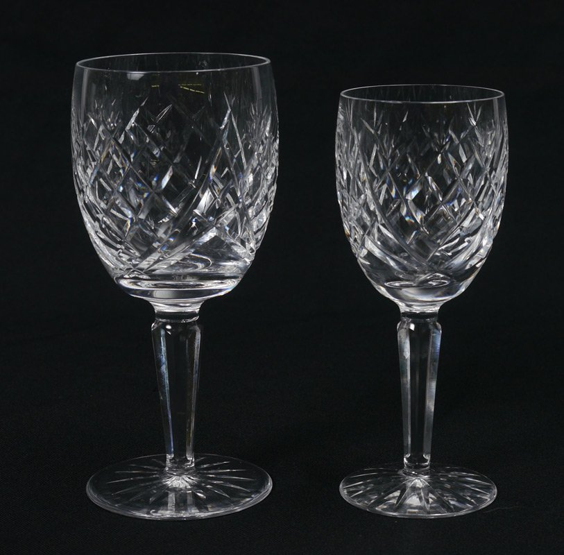 24 PIECE WATERFORD AVOCA CRYSTAL STEMWARE - 2
