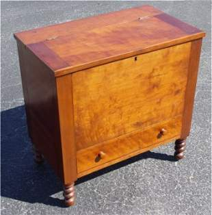 EARLY 19th C CHERRY SUGAR CHEST