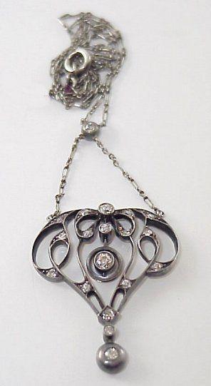 ELEGANT GEORGIAN DIAMOND LAVALIER