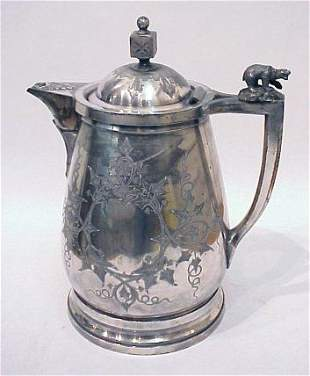 VICTORIAN SILVERPL COLD WATER PITCHER