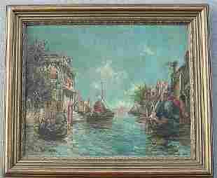 R DUBOIS EARLY 20TH C VENETIAN CANAL PAI