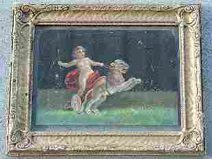 PAIR OF 19 C MYTHOLOGICAL OIL PAINTING