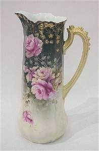 271: RS GERMANY FLORAL DECORATED PITCHER