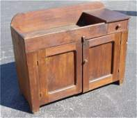 64B: EARLY 19TH C PINE DRY SINK