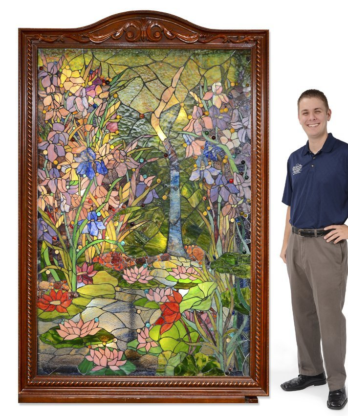 7 FT MONUMENTAL STAINED GLASS LIGHTED PANEL