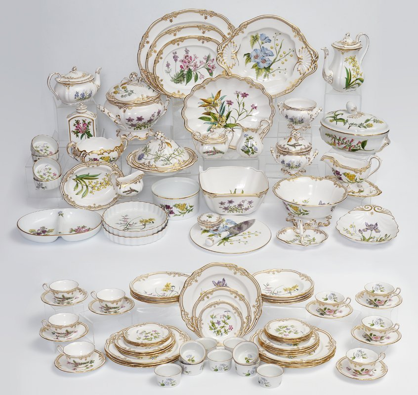 89 PC SPODE STAFFORD FLOWERS CHINA
