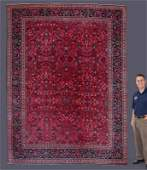 "SEMI-ANTIQUE PERSIAN H K WOOL RUG 9'4"" x 12'"