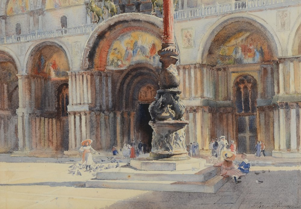FLORENCE ROBINSON VENICE WATERCOLOR PAINTING