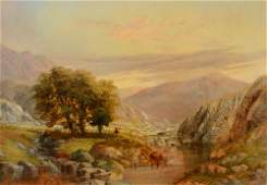 ENGLISH LANDSCAPE PAINTING SIGNED TS COOPER