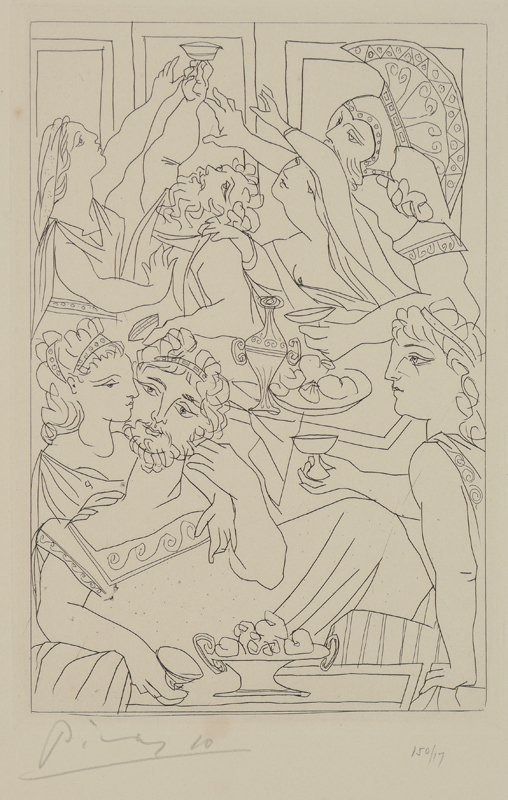 PICASSO ETCHING ''LE FESTIN'' 17/150 FROM LYSISTRATA