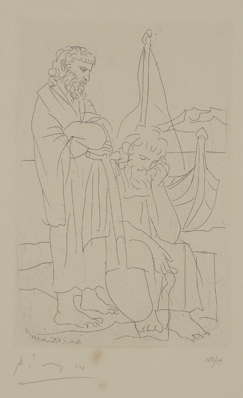 PICASSO ETCHING 17/150 FROM LYSISTRATA