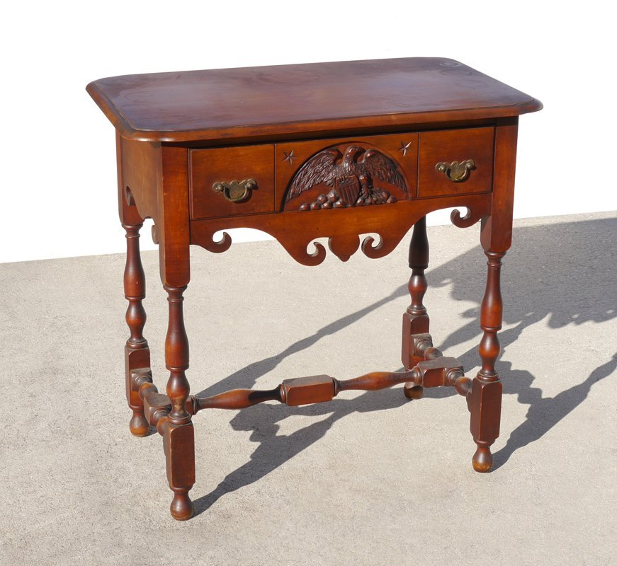 1929 BERKEY & GAY OLD IRONSIDES SIDE TABLE