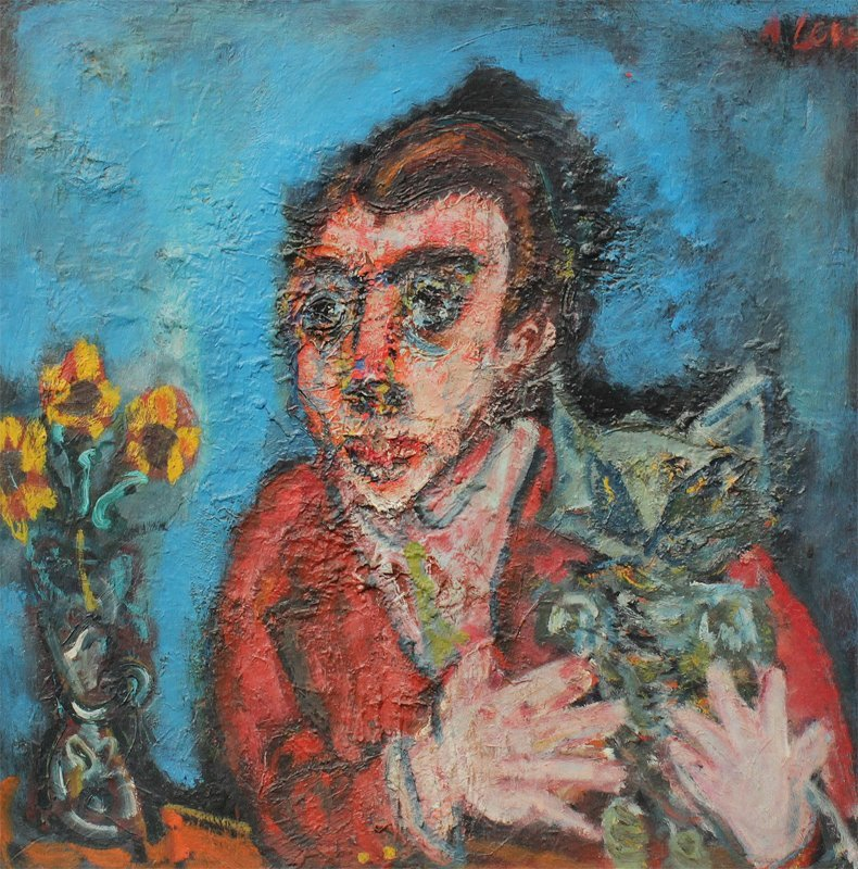 ANDRE LEVE EXPRESSIONIST PORTRAIT PAINTING