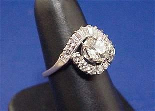 3.00ct DIAMOND RING 1.31CT CENTER STONE 14K