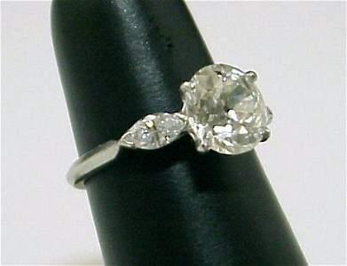 1014B: 3CTW PLATINUM DIAMOND RING 2.46 CT