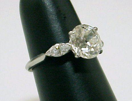 3CTW PLATINUM DIAMOND RING 2.46 CT