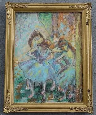TWO MID CENTURY BALLERINA ARTWORKS