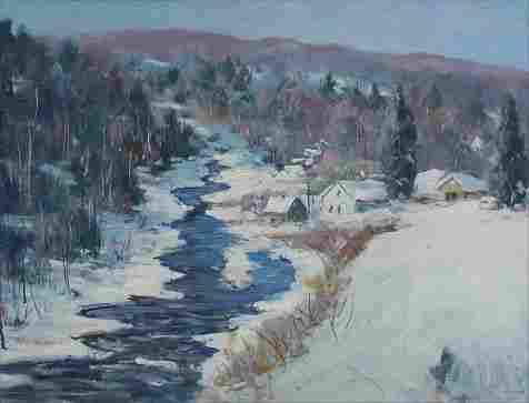 1324: RUTH NETTLETON ROCKPORT ARTIST LANDSCAPE
