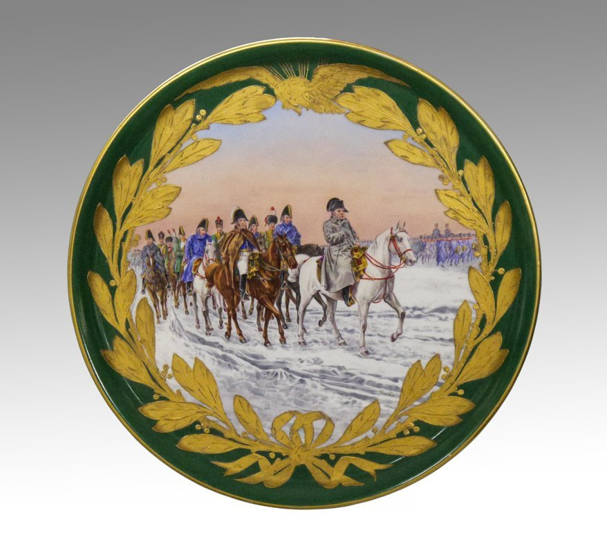 LARGE NAPOLEONIC SEVRES CHARGER