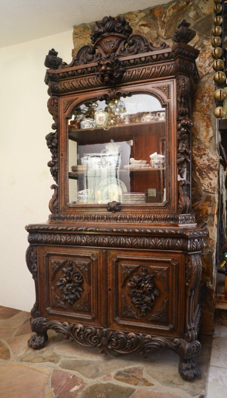 PROFUSELY CARVED HORRIX DUTCH CUPBOARD