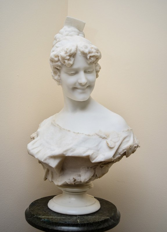PROFESSOR A. CAMBI MARBLE BUST OF A YOUNG BEAUTY