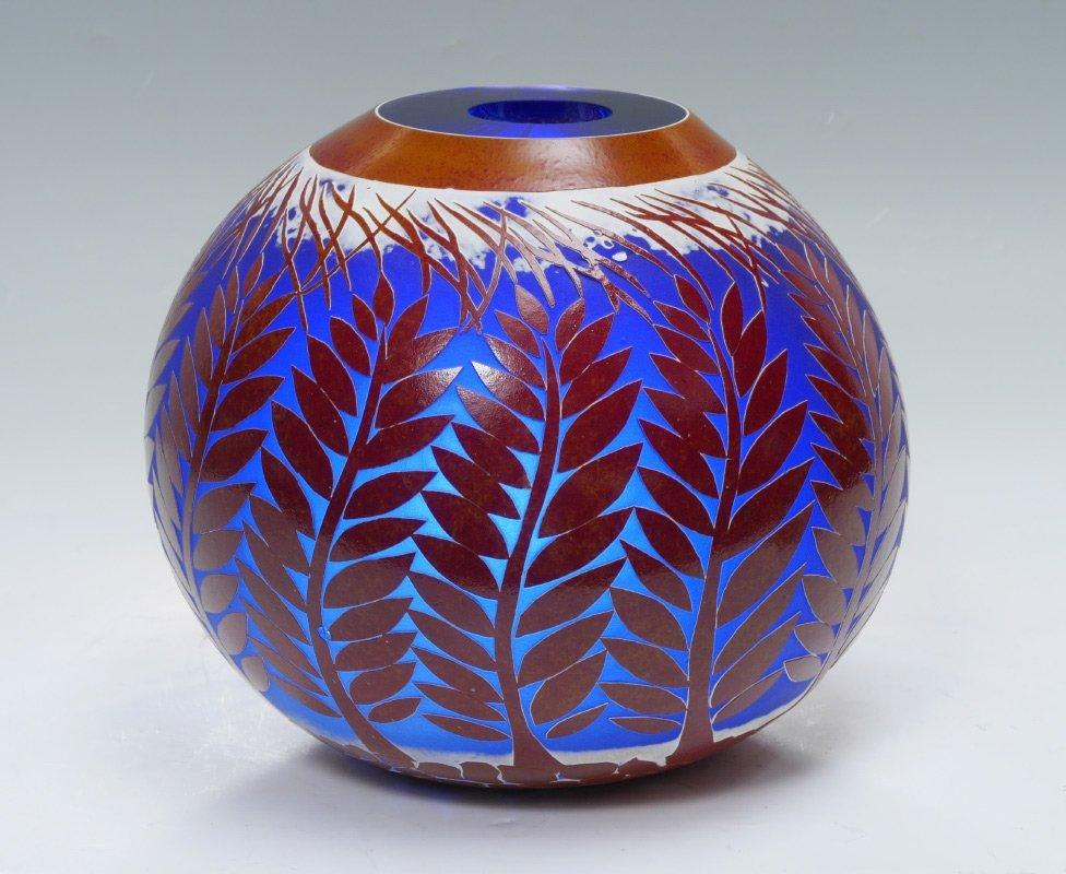 DUNCAN MCLELLAN WINTER WHEAT ART GLASS VASE