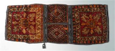 SEMIANTIQUE NW PERSIAN HK WOOL DOUBLE BAG 16 x 310