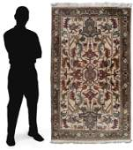 15-20 YR OLD INDO-PERSIAN H K WOOL RUG 4' x 6'