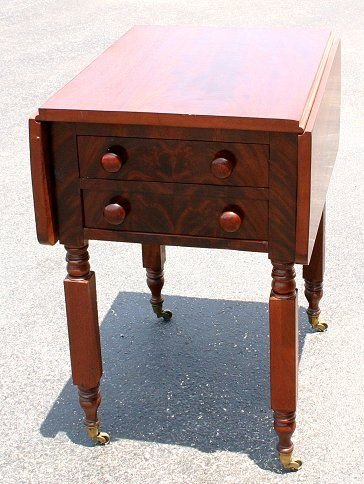 12: 19th C FLAME GRAINED WORK STAND