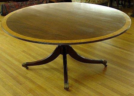 11: BANDED MAHOGANY ENGLISH BREAKFAST TABLE