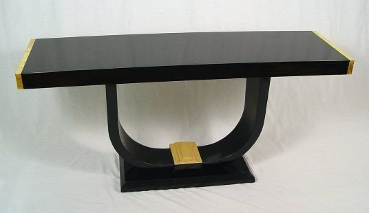 14: HIGH STYLE BLACK LACQUER TABLE