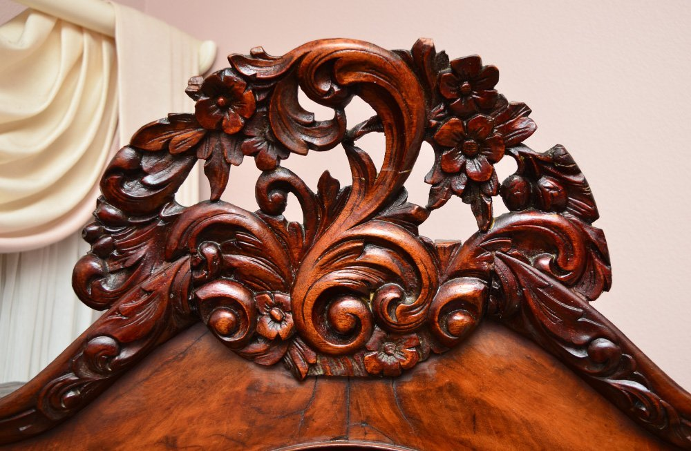CARVED VICTORIAN CURIO CABINET - 2