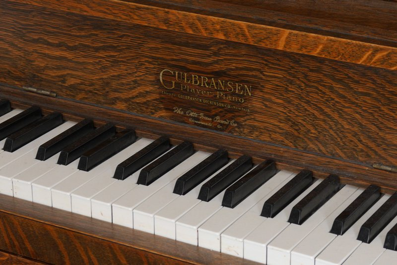 GULBRANSEN GOLDEN OAK UPRIGHT PLAYER PIANO - 3